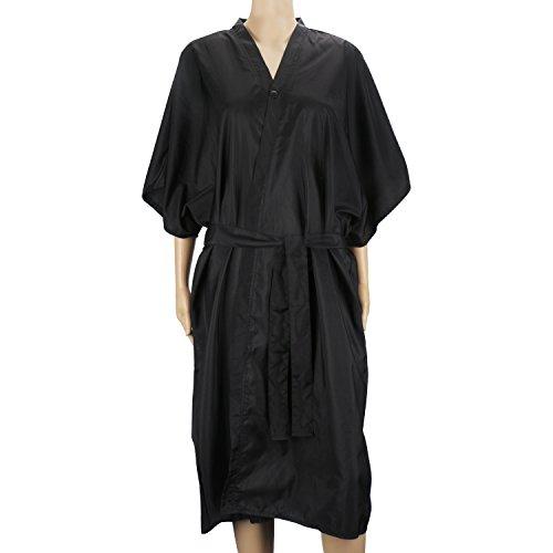Bata de masaje Black Spa, vestido de kimono Segbeauty Mangas medias universales Ropa para clientes Salón de belleza Bata impermeable Peluquería Capa para maquillaje de champú