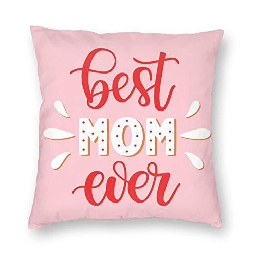Best Nana Ever - Funda de almohada de poliéster para regalo de cumpleaños de abuela, fundas de almohada para decoración del hogar para sofá, sala de estar, cama, coche, 60 x 60 cm