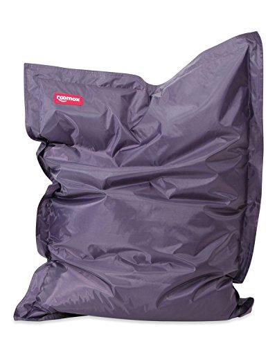 Roomox Junior Sitzsack Original - Großer Sitzsack für drinnen und draußen 130 x 100 x 30 cm geräumiger Sitzsack Bodenkissen aus Wasserresistentem Polyester