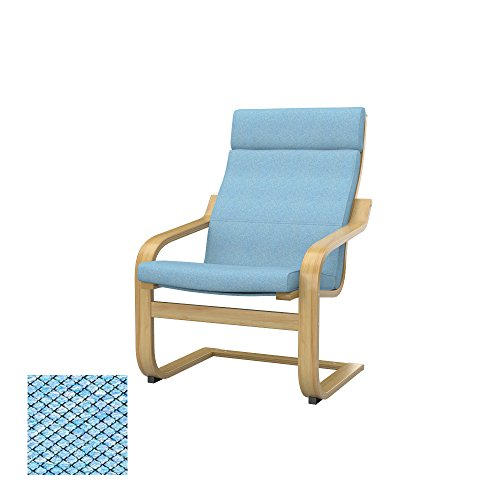 Soferia - IKEA POÄNG Funda para sillón, Nordic Blue