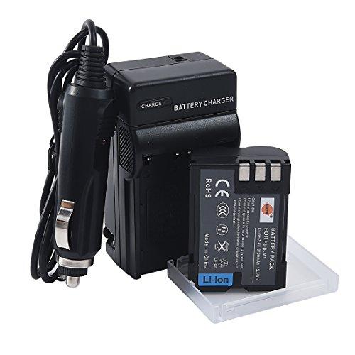DSTE Replacement for BLM-1 Battery + DC11 Travel and Car Charger Adapter Compatible Olympus EVOLT E-300 E-330 E-500 E-510 C-5060 C-7070 C-8080 E-1 E-3 E-30 E-520 as PS-BLM1