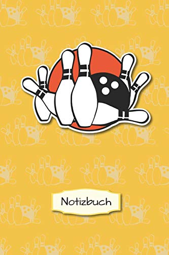 Notizbuch: Bowling Bowlen | A5 - Kariert (Kästchen) 120 Seiten | Notizbuch | Spielbuch | Planer | Geschenk | zum selber ausfüllen