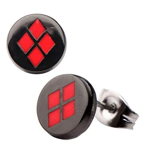 412F6nneOhL Harley Quinn Earrings