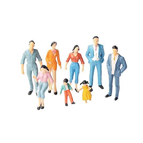Mini Painted Modellbahn Menschen Figuren Maßstab Ho (1 Bis 87) Miniatur-zubehör 24x