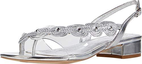 Adrianna Papell Women's Delilah Platform, Silver, 6