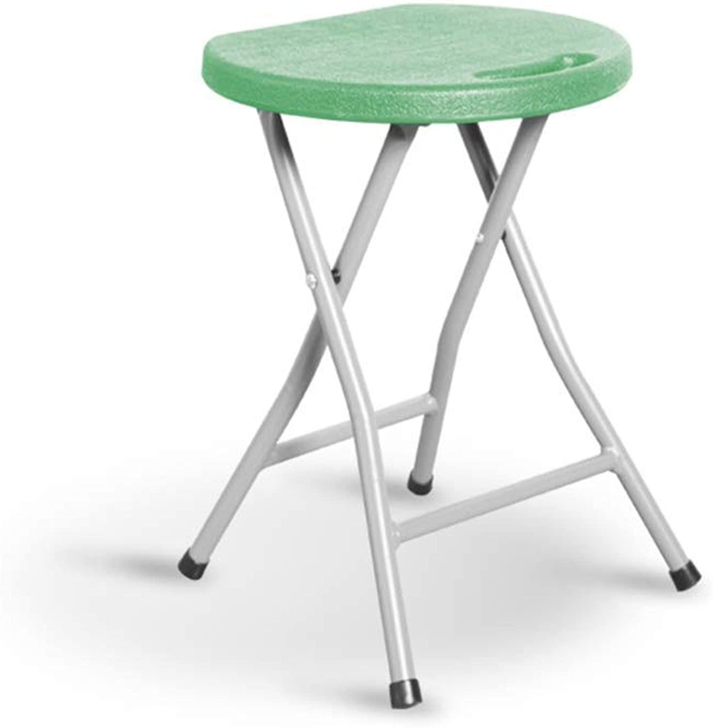 Lil Folding Portable Chair Home Dining Table Adult High Stool Simple Chair Thickening Creativity Lounge Chair (color   Green, Size   45  33cm)
