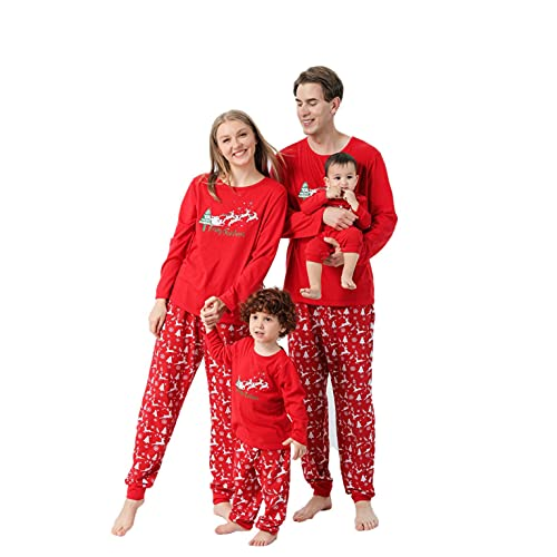 Eoailr Family ChristmaspjsMatching Sets Long Sleeve Frozen Plaid Festival mom Onesies Pjs Merry Christmas Sets boy dad Matching Plus Size Footie Girls Sleepwear Bottom Clothes