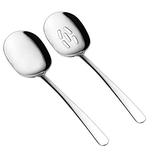 Slotted Spoon and Serving Spoon