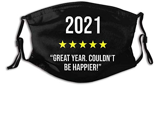 2021 The Year Máscara facial con 2 bandanas de filtro de carbono reutilizables lavables pasamontañas ajustables para hombres y mujeres