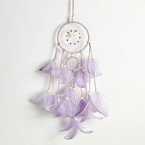 Tyhbelle Handgewebter Traumfänger pink für Zimmerdekoration Traumfänger (Lila)