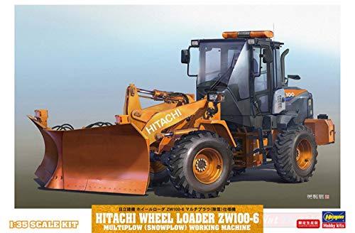 NEW Hasegawa HA66102 HITACHI RADLADER ZW-100-6 con SPAZZANEVE Kit 1:35 MODELLINO