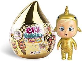 BEBÉS LLORONES LÁGRIMAS MÁGICAS Golden Edition - Mini muñecas coleccionables con lágrimas Accesorios Dorado