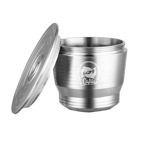 Perfectha Cápsulas de café de acero Cápsulas de filtro de café recargables y reutilizables cozy