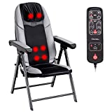 Giantex Folding Shiatsu Massage Chair with Heat, Back Neck Massager Chair Portable, 3D...