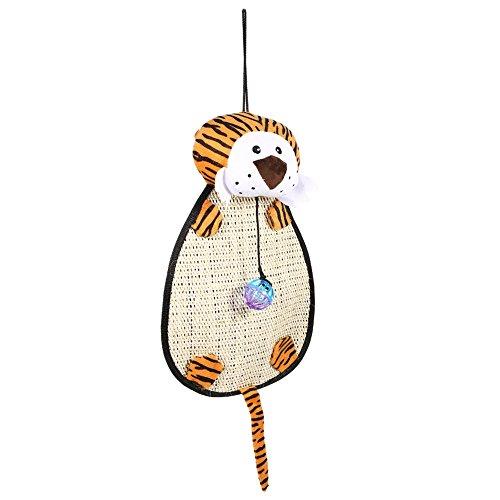 Fdit dier vorm kat kitten krasplank huisdier opknoping ontspannen spelen mat pad met bal en ring bel