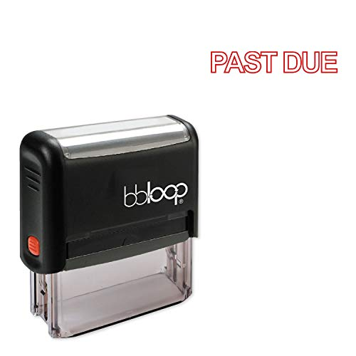 Past Due w/Outline Border Style Font and Design Self-Inking Rubber Stamp