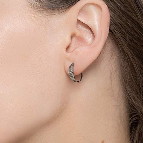 Sterling Silber Creolen für Frauen minimalistische Ohrringe ungewöhnliche Ohrringe Hoop Huggie Creolen hypoallergen Ohrringe kleine Creolen