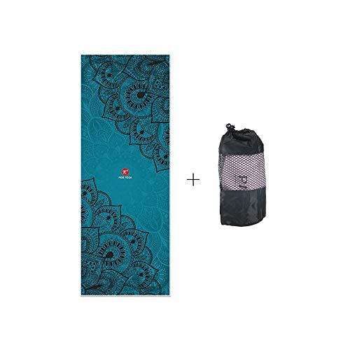 PIDO Toalla de yoga caliente exclusiva bolsillo de esquina impreso esterilla de yoga toalla de microfibra no se desliza para yoga caliente, bikram Ashtanga y pilates bolsa de transporte gratis