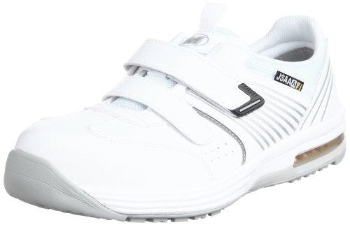 [ミドリ安全] 安全作業靴 JSAA認定 静電気帯電防止 耐滑 マジックタイプ プロスニーカー ISA805 メンズ ホワイト 30.0(30cm)