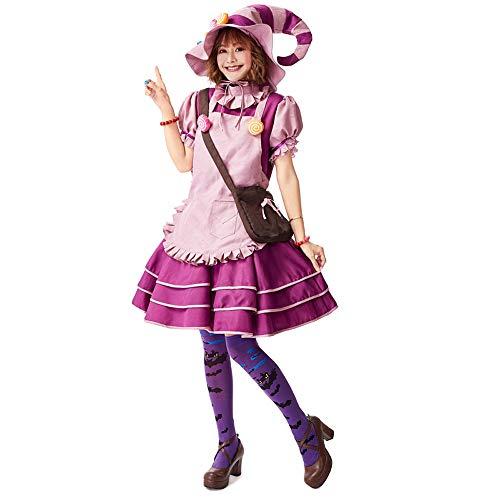 JJAIR Trajes de la Bruja de Halloween, la Bruja Disfraz con Accesorios Creaciones Cuento de la Bruja Traje de la Bruja Linda Deluxe Set para la Mujer,XL