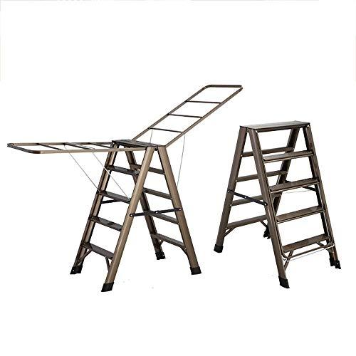 LIYONG Escalera Plegable Tendedero de Doble Uso doméstico E