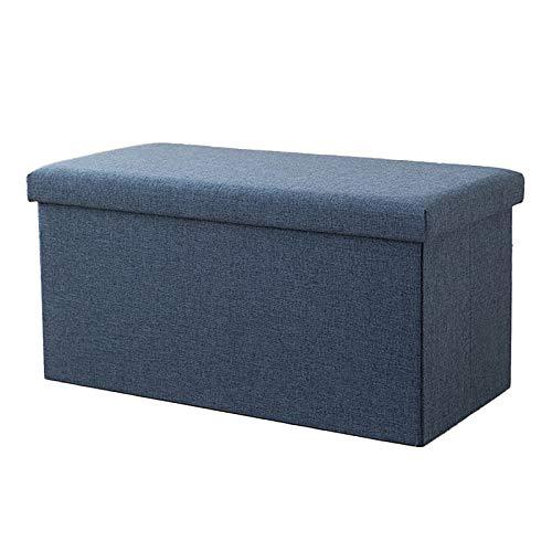 XINTU 1pc otomanos plegable reposapiés caja de almacenamiento de artículos rectangular sentarse plegable tela taburete de almacenamiento