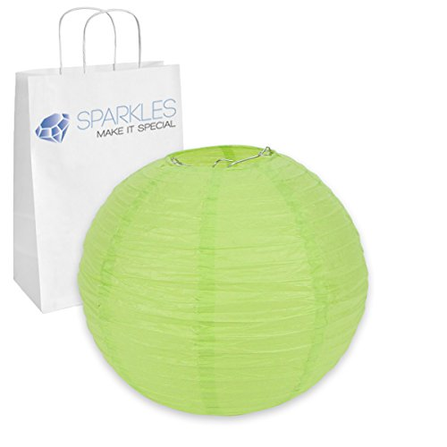 "10"" inch Chinese Paper Lantern - Apple Green"