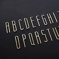 A to z#ゴールデン真鍮の手紙装飾的な壁の文字シンボルをパーソナライズ家のドアの住所の兆候 (Color : J, Height : 7cm)