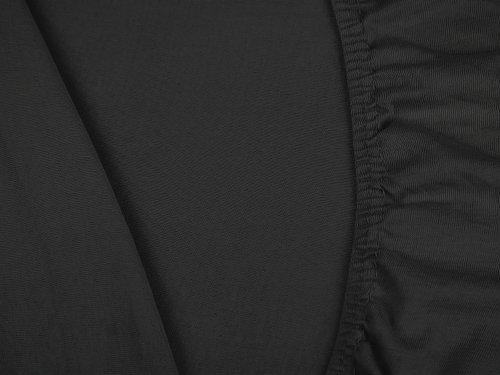 #16 npluseins Kinder-Spannbettlaken, Spannbetttuch, Bettlaken, 70×140 cm, Schwarz - 5