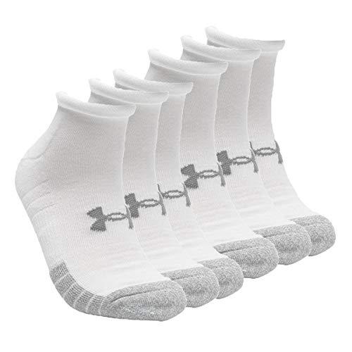 Under Armour HeatGear Lo Cut - Calcetines cortos unisex (6 pares) Blanco 42-47
