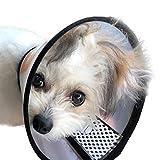 Goods marche 愛犬の為に開発された エリザベスカラー 犬猫用 半透明 ソフト ベル型 軽量 (Mサイズ)