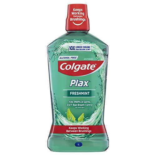 Colgate Plax Antibacterial Mouthwash 1L, Alcohol Free, Bad Breath Control