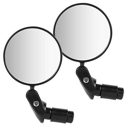 2Pcs Specchietti Bici Obiettivo Grandangolare Girevole a 360° per Biciclette e Veicoli Scooter con Diametro del Manubrio 18~22 mm