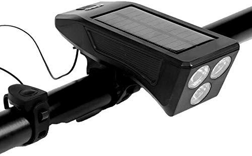 SAFGH Luces de Bicicleta, Faro de Bicicleta Recargable por USB con Accesorios de bocina, luz de Bicicleta Impermeable, luz de Bicicleta de montaña, fácil de Montar para Todas Las Bicicletas
