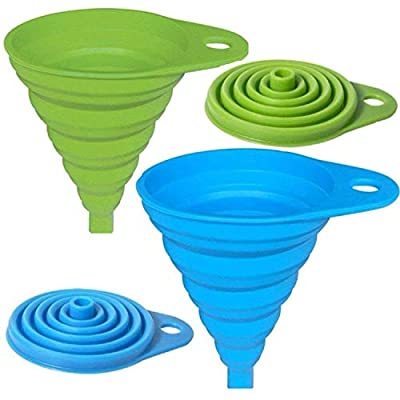 AxeSickle Silicone Collapsible Funnel 2 Pcs Folding Funnel. from Axe Sickle