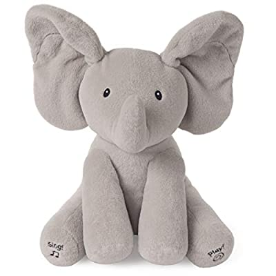 "Baby GUND Animated Flappy the Elephant Stuffed Animal Plush, Gray, 12"""