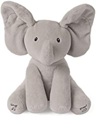 Baby GUND Animated Flappy the Elephant Stuffed Animal Plush, Gray, 12\""