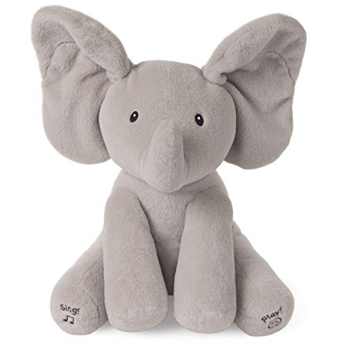 Baby GUND Animated Flappy The Elephant Stuffed Animal Baby Toy Plush Gray 12quot