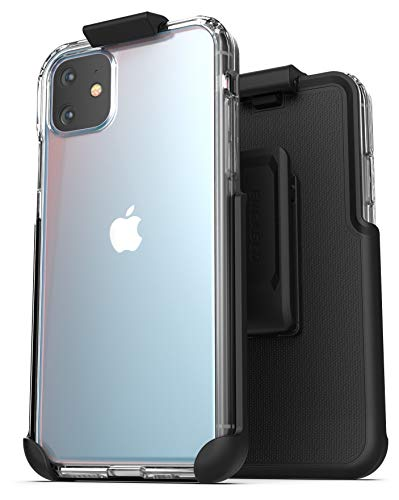 Encased iPhone 11 Belt Clip Case (2019) Ultra Slim Clear Back Cover with Holster