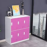 FPigSHS Locker Storage Box Staff Cabinet Wardrobe Shoebox Cupboard Metal Cabinet...