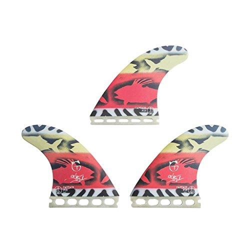 Captain Fin Co Tanner G Lava Flow Futures - Aletas de Tabla de Surf (Panal de Abeja, tamaño Grande), Color Rojo