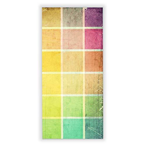 Banjado Wechselscheibe für IKEA GYLLEN Wandlampe | Glasscheibe für Wandleuchte 56x26cm | Echtglas Motiv Bunte Glasbausteine | Hochformat