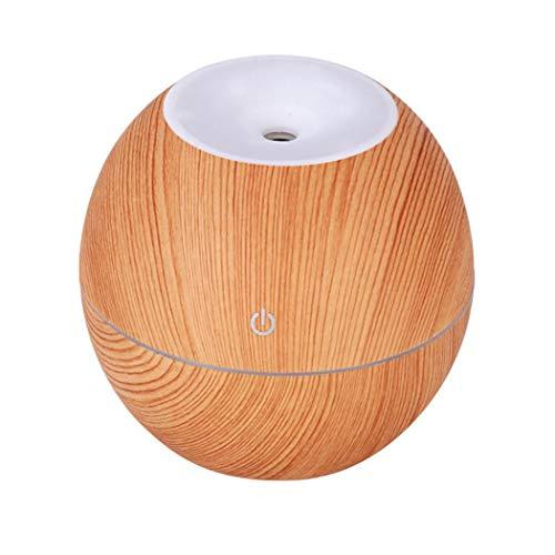 Timesok Mini Grano de Madera humidificador de Aire luz Nocturna Aroma Aroma difusor de Aceite Esencial purificador Humidificadores