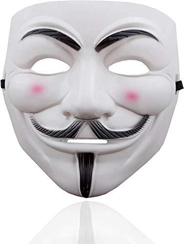 TK Gruppe Timo Klingler Vendetta Maske als Kostüm Accessoire für Damen & Herren, Kinder & Erwachsene an Anonymous Fasching & Karneval
