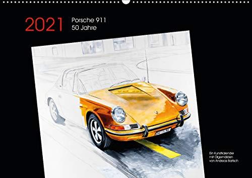 50 Jahre Porsche 911 (Wandkalender 2021 DIN A2 quer)