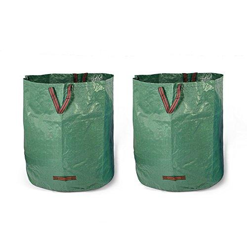 Fundwerk Garten-Abfallsack 500 L im 2er Set | Die Gartenabfallsäcke sind bestens geeignet als Laubsack und für Grünschnitt | dunkelgrün