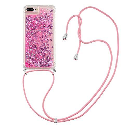 Funda líquida de silicona TPU antigolpes, para iPhone 6s Plus/6 Plus/7 Plus/8 Plus (rosa)