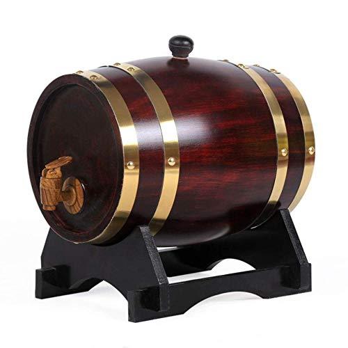 AXYQ Oak Storing Barrel, voor het opslaan van uw eigen whisky, bier, wijn, Bourbon, cognac, hete saus - meer