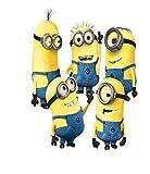 Ligoi Dibujos animados Minions pegatinas de pared lindo niño amarillo en día festivo...