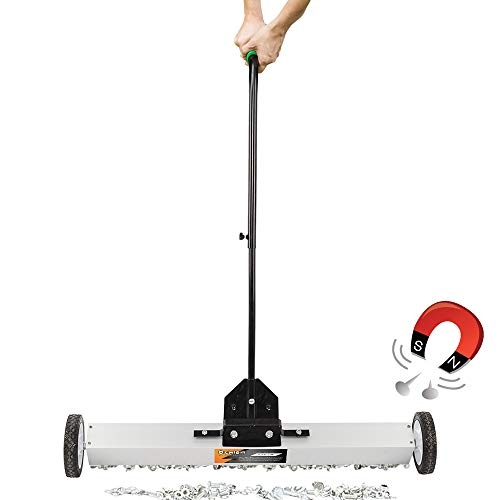 """Oshion 36"""" Magnetic Pick-Up Sweeper with Wheels Solid Quality Durable Material"""
